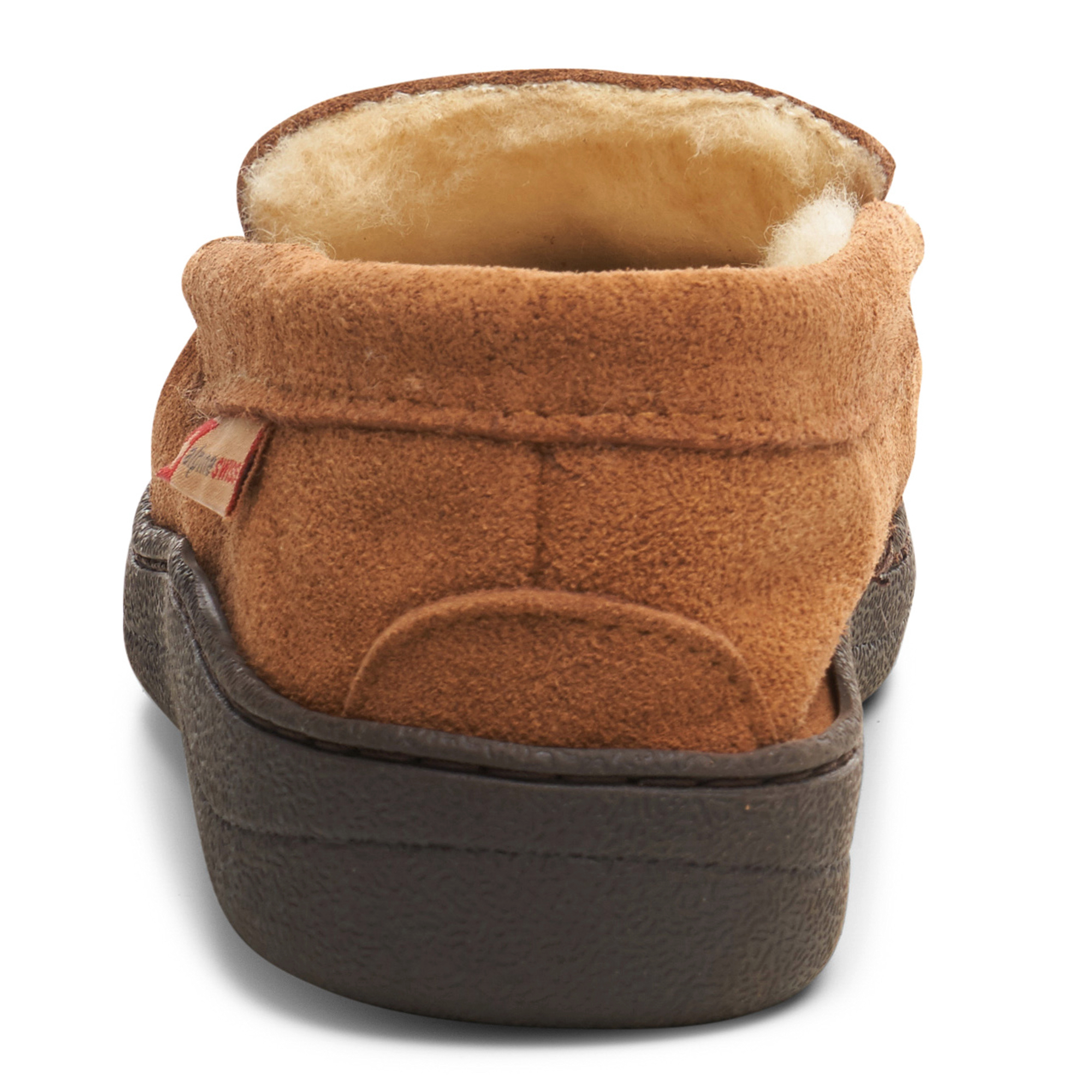 Alpine-Swiss-Yukon-Mens-Suede-Shearling-Moccasin-Slippers-Moc-Toe-Slip-On-Shoes thumbnail 23