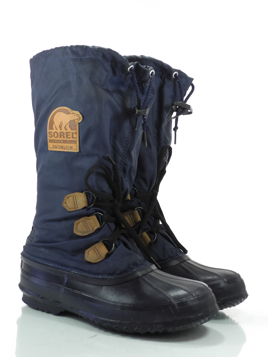 sorel snowlion 9 m womens snow winter boots navy insulated apres ski ebay. Black Bedroom Furniture Sets. Home Design Ideas