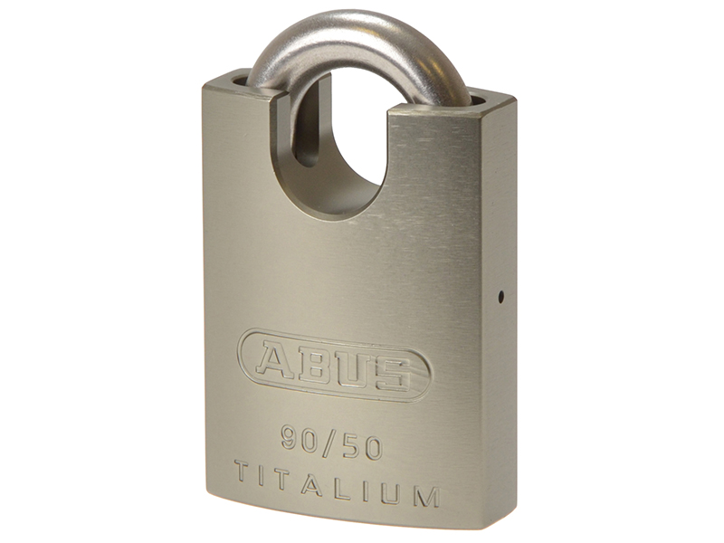 ABUS 83//55mm Rock Hardened Steel Padlock Closed Shackle Carded ABU8355CSC