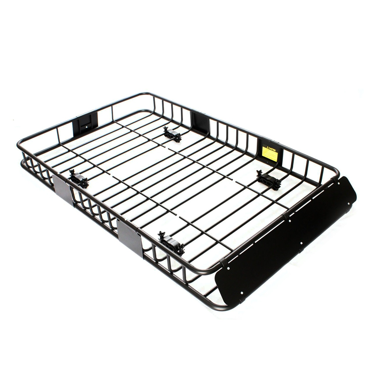 64 u0026quot  black universal roof rack w  extension cargo top luggage carrier basket