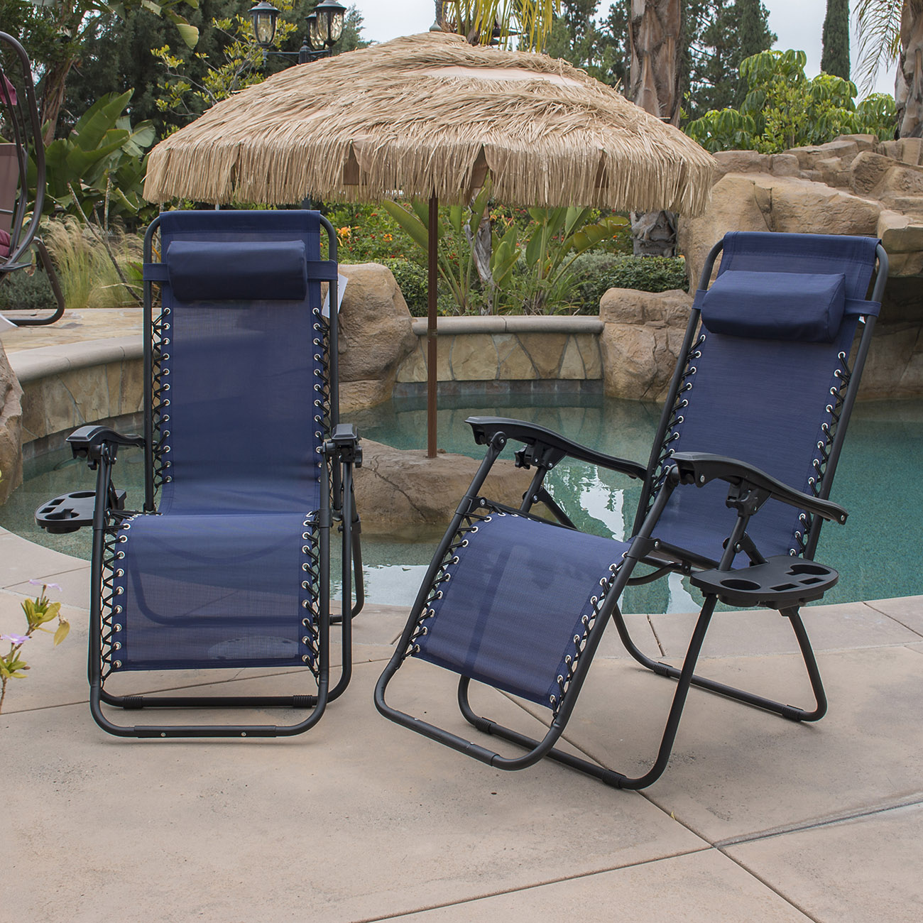 Cool Details About 1 Pair Blue Zero Gravity Lounge Chairs Recliner Outdoor Beach Patio Pool New Ocoug Best Dining Table And Chair Ideas Images Ocougorg