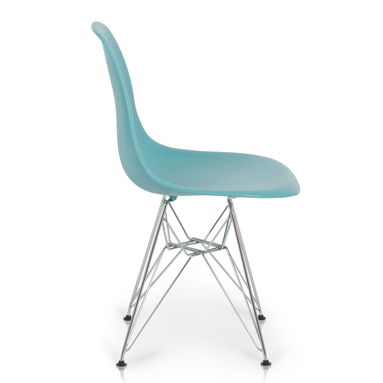 Premium Blue Eames DSW Molded Plastic Eiffel Retro Dining Side Chairs Set Of