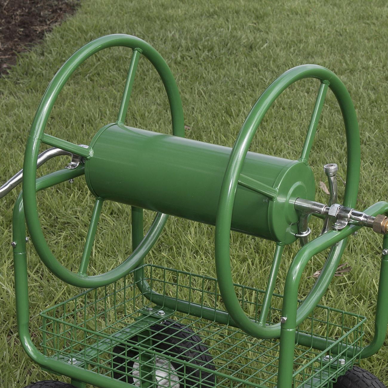 400ft Water Hose Reel Cart Outdoor Garden Yard Planting