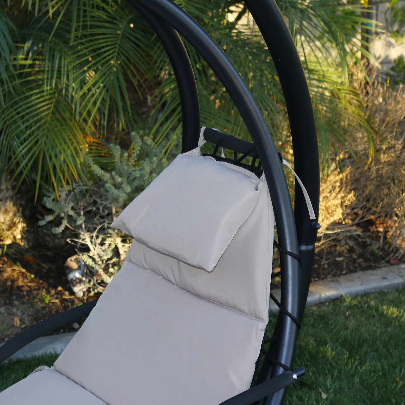 hanging chaise lounge chair hammock swing canopy glider  hanging chaise lounge chair hammock swing canopy glider outdoor      rh   ebay