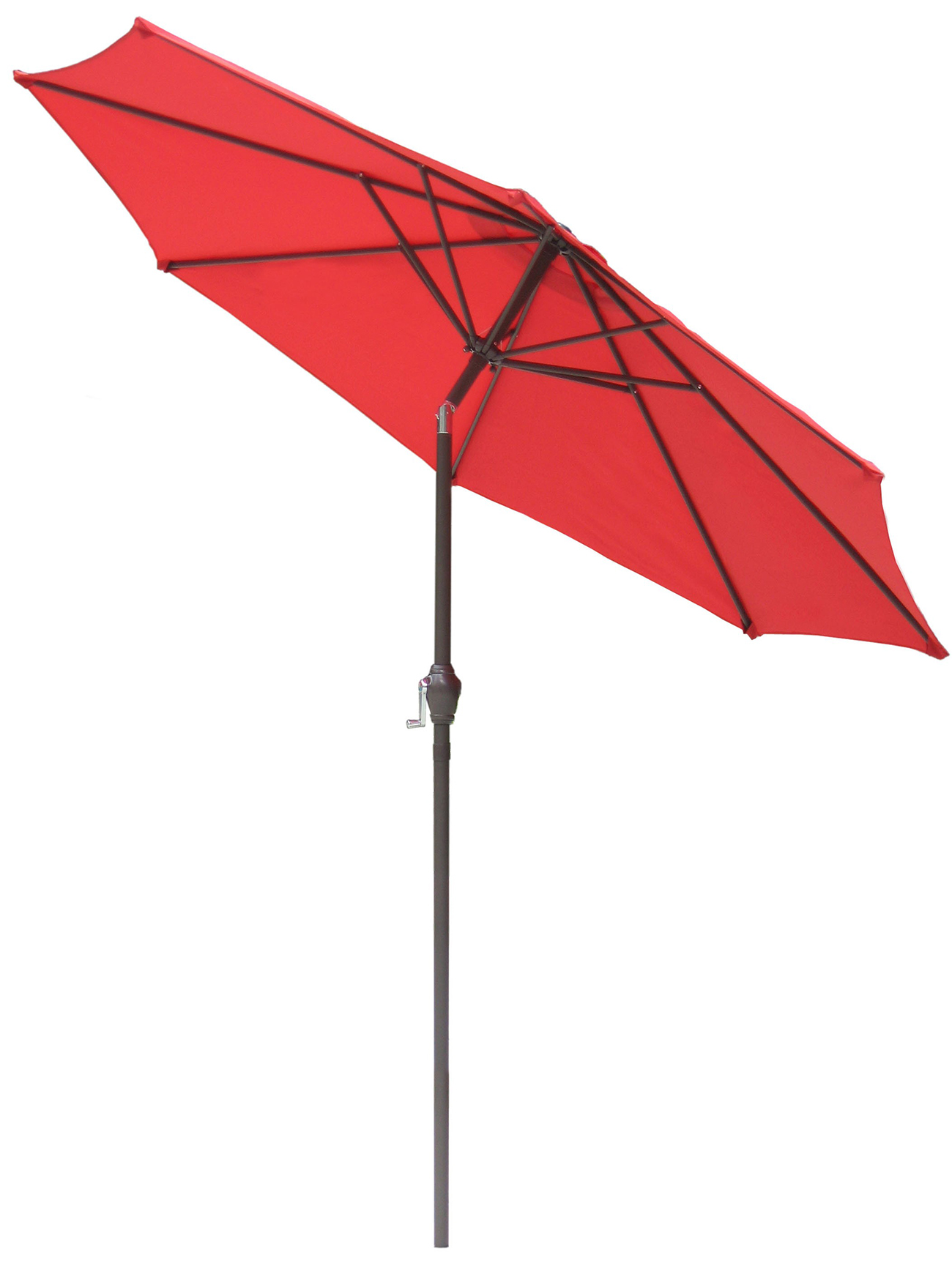 Patio Umbrella Crank Diagram: NEW 9' Outdoor Steel Patio Tilt Umbrella W/Crank Sunshade