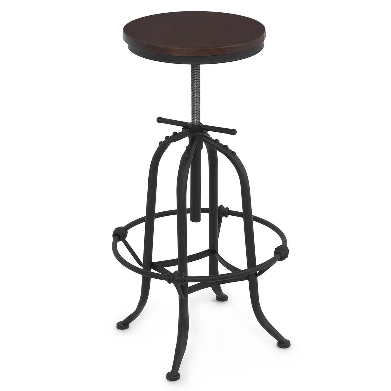Rustic Bar Stool Home Adjustable Seat Height Countertop
