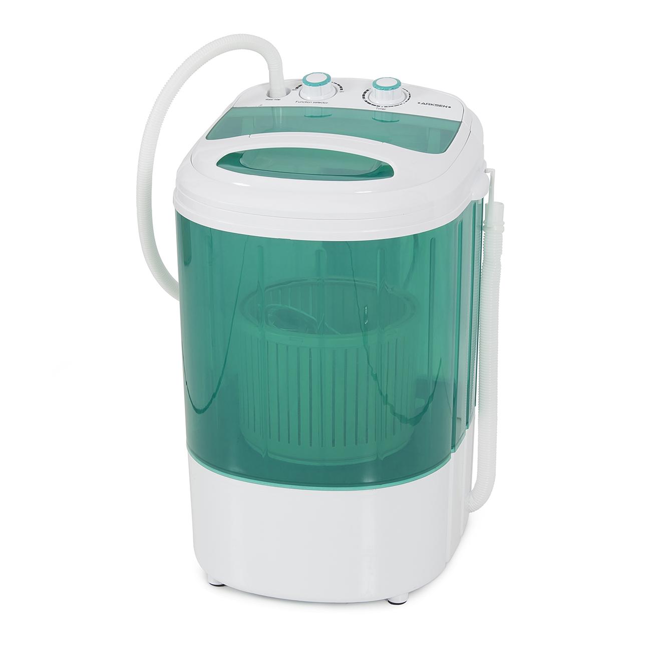 Portable Spin Dry Cycle Washing Machine W Basket Dorm