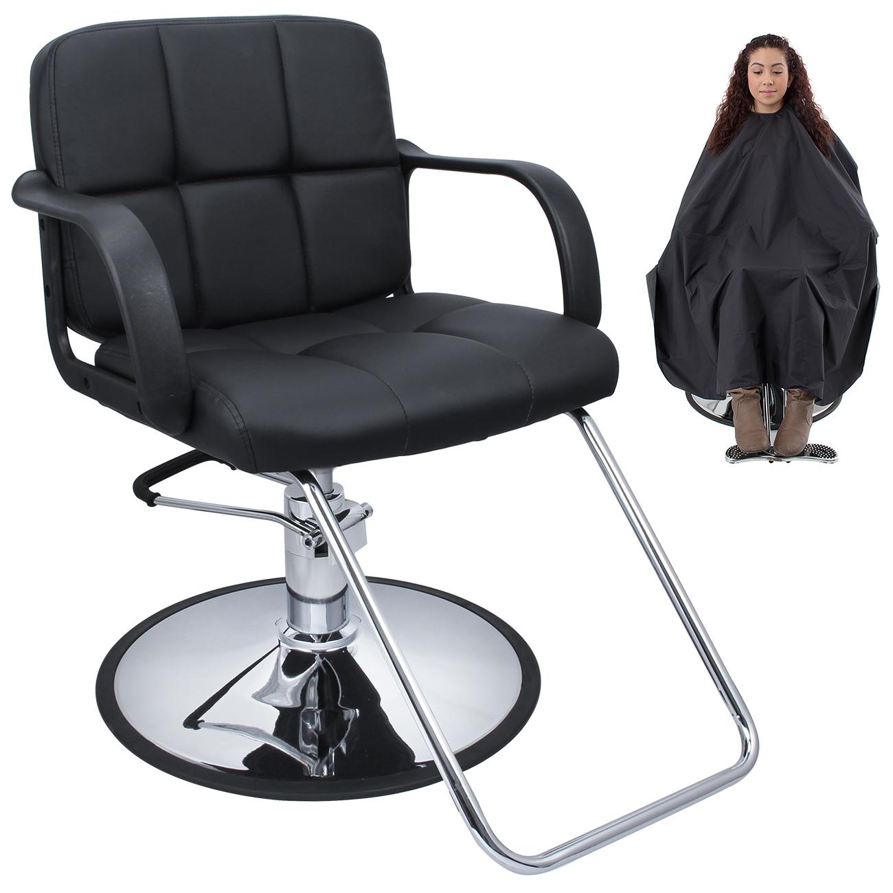 Professional Black Hydraulic Styling Barber Chair Hair ...