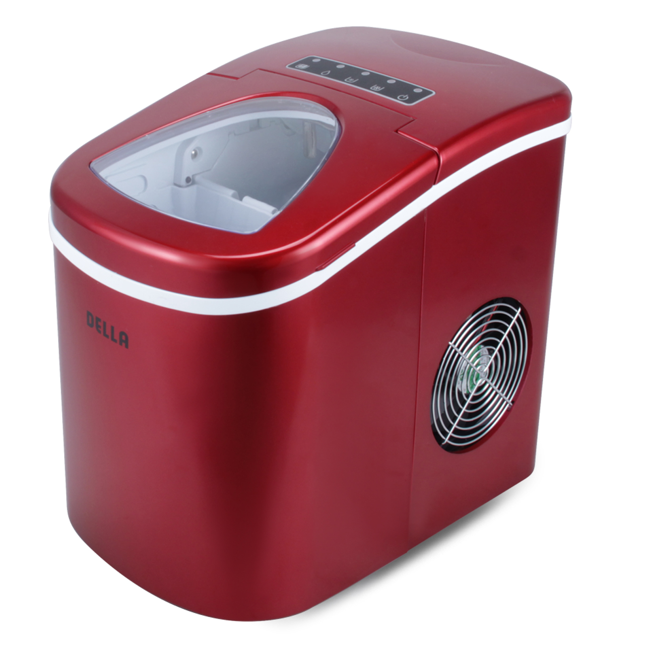 New Portable Red Countertop Compact Ice Cube Maker Machine
