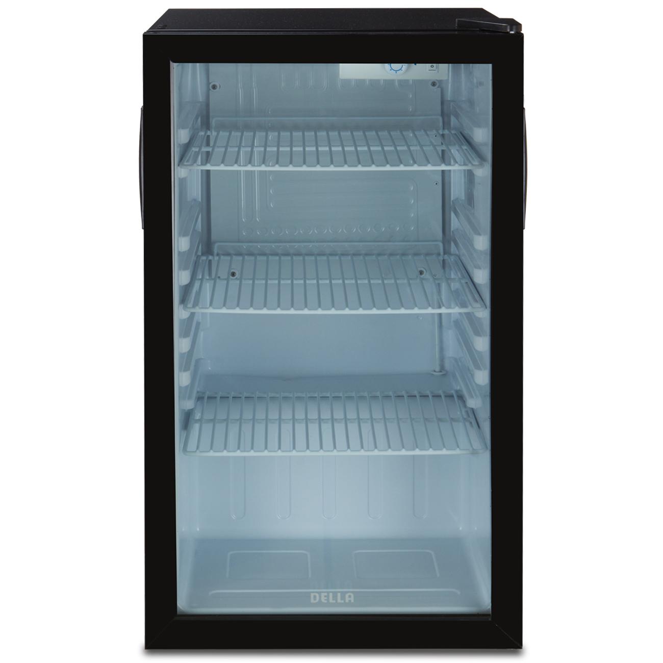 compact refrigerator mini fridge glass door cooler w led. Black Bedroom Furniture Sets. Home Design Ideas