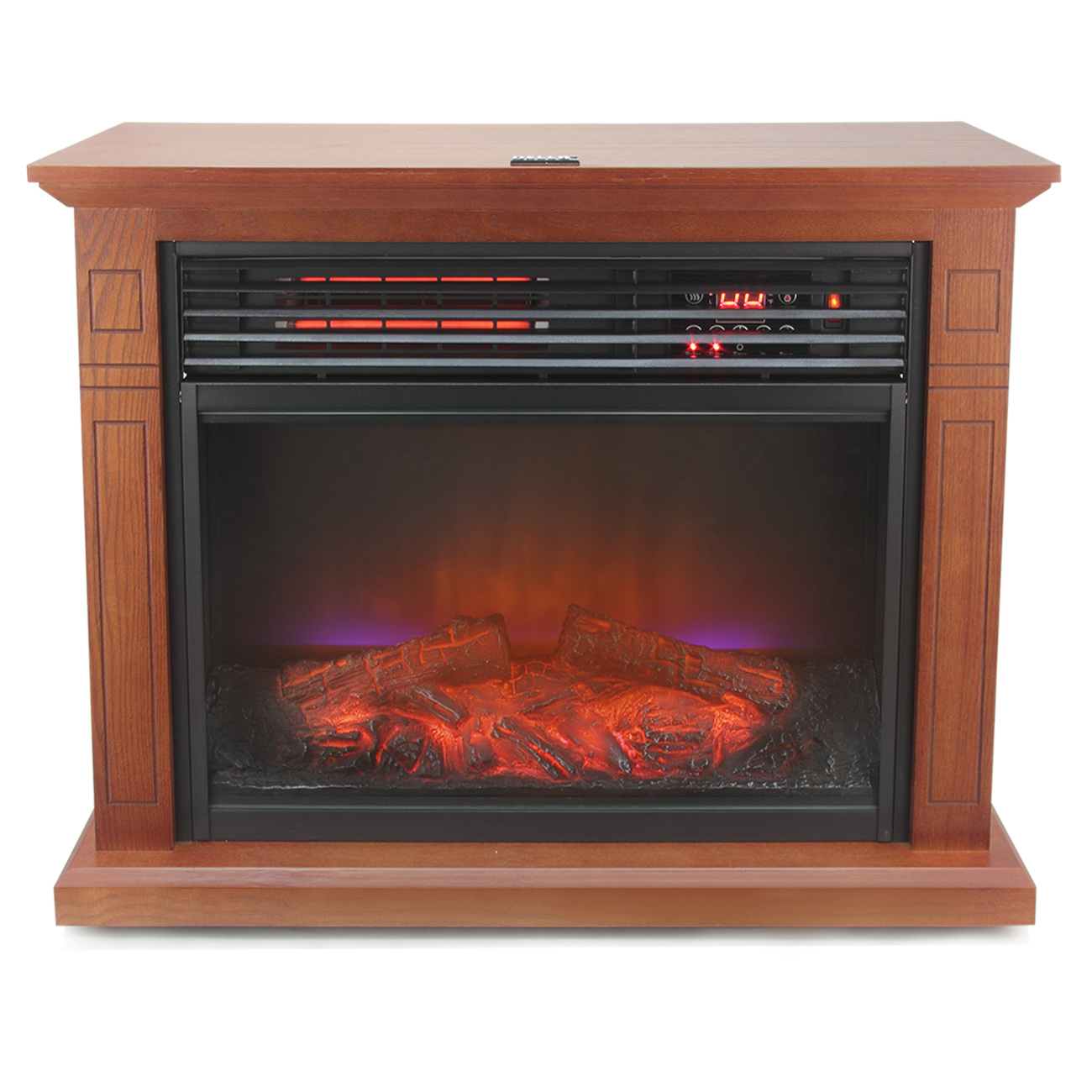 Infrared electric compact fireplace heater home warm for Electric radiant heat efficiency