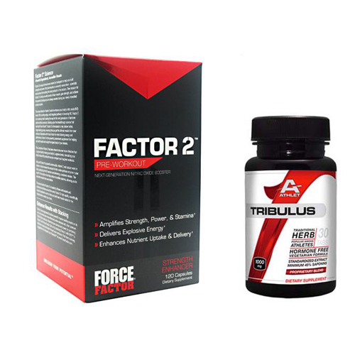 Force Factor Factor 2 120 Caps - Free Athlet Tribulus 30