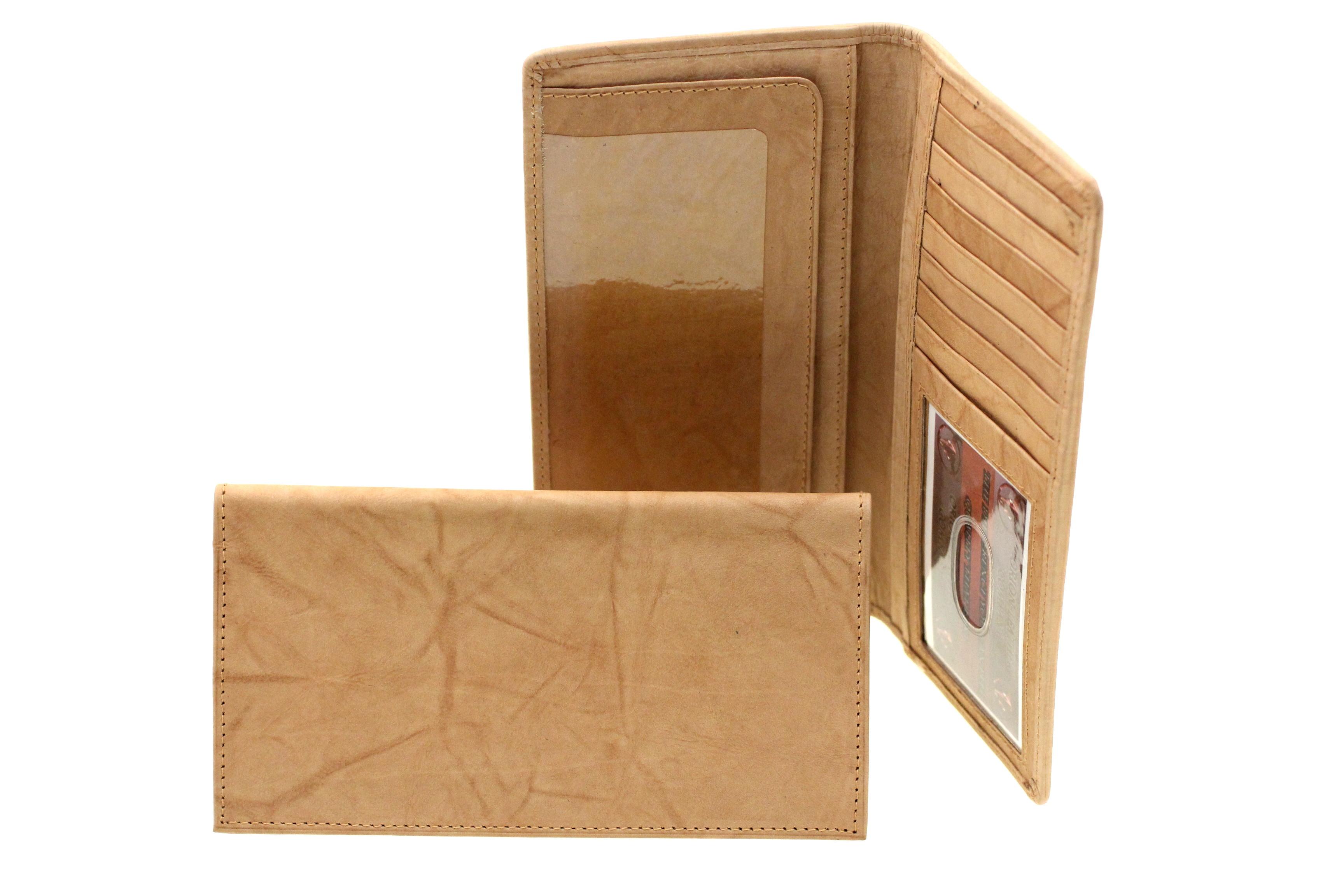 Leather Checkbook Wallet Credit Card Holder