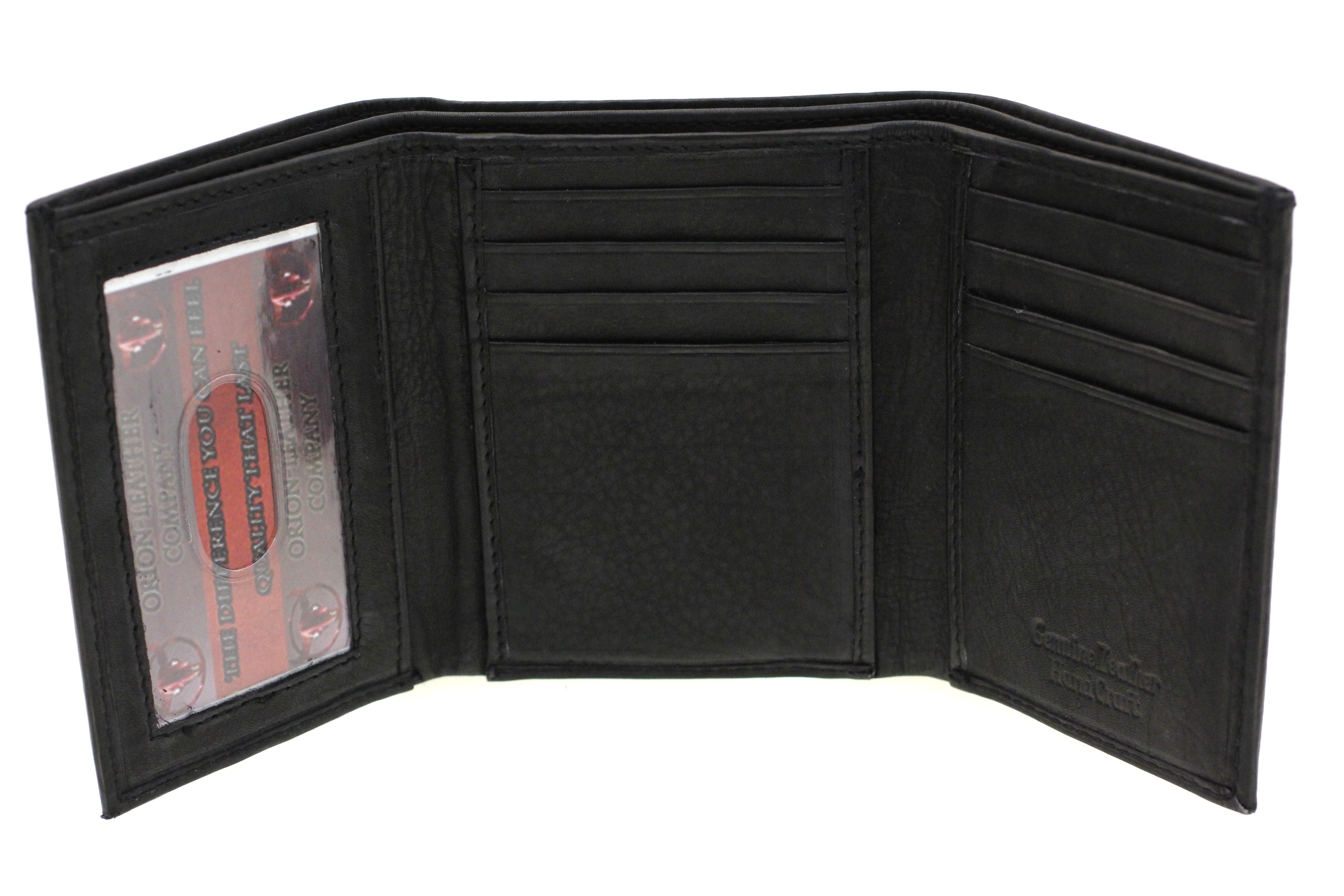 Mens Trifold Wallet Super Slim 2 Bill Sections 8 Card ...