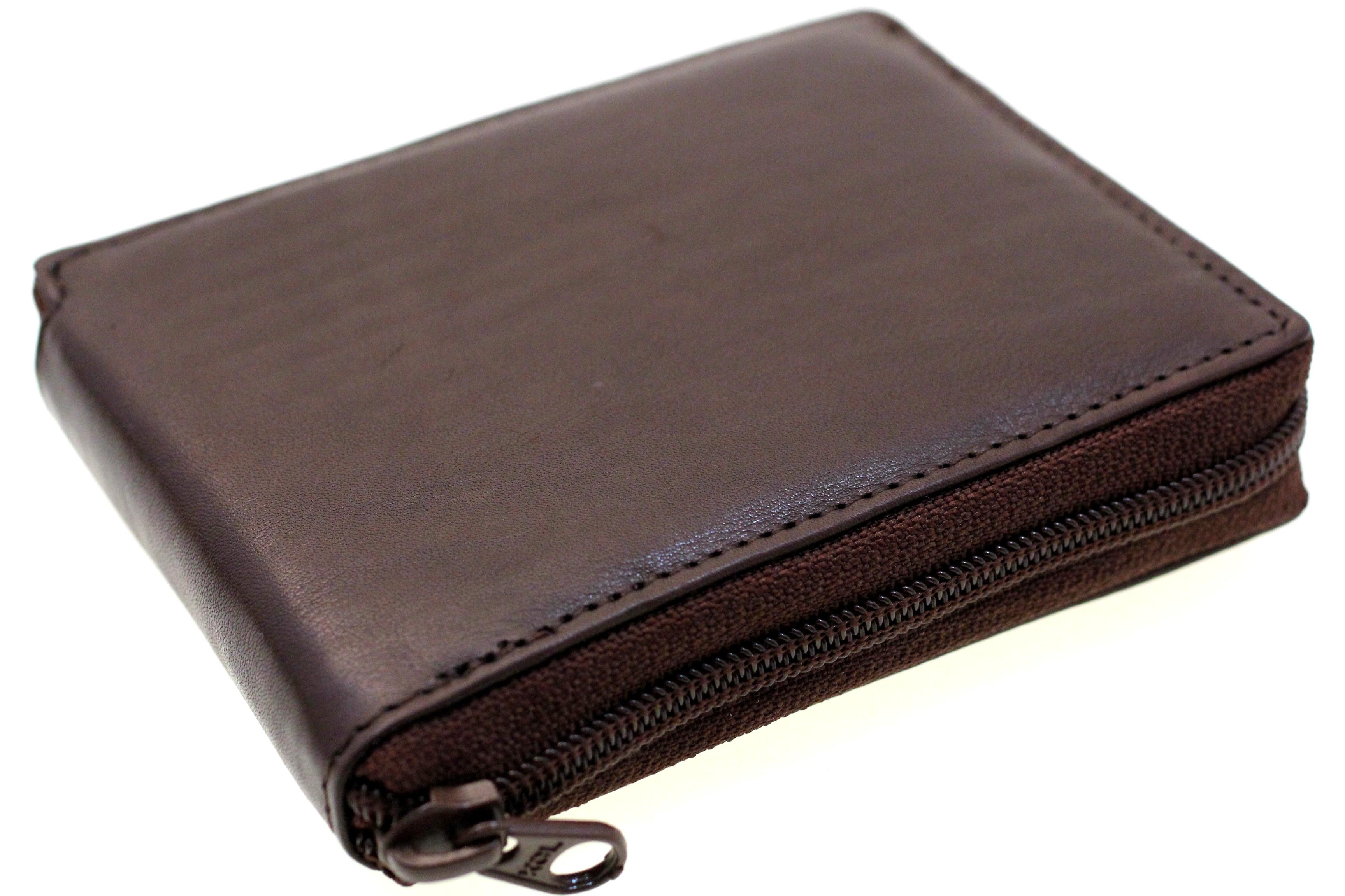 Men Bifold Wallet Zipper Closed Zip Around Removable Card ...