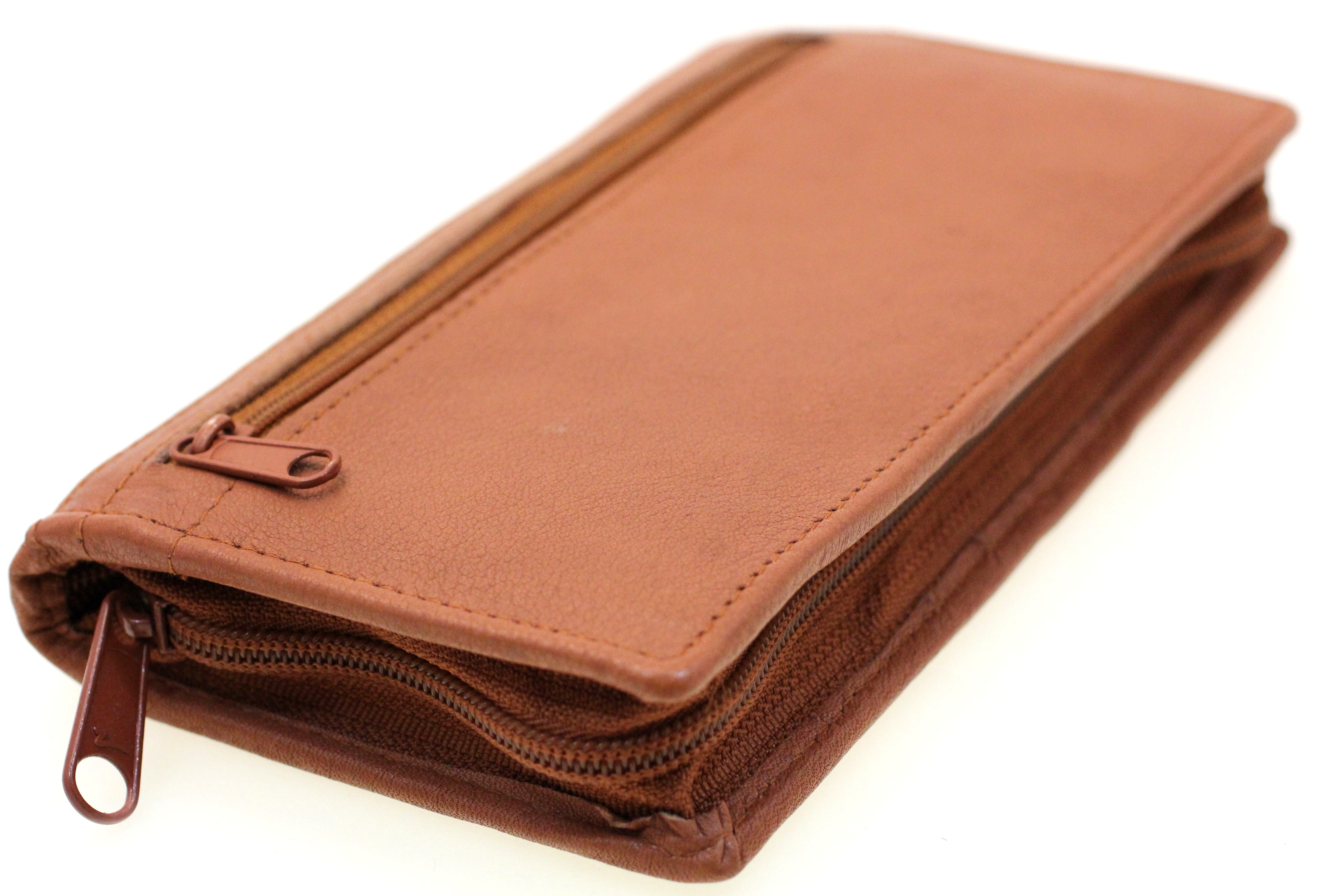 Leather Checkbook Wallet Removable Checkbook Cover Zip ...