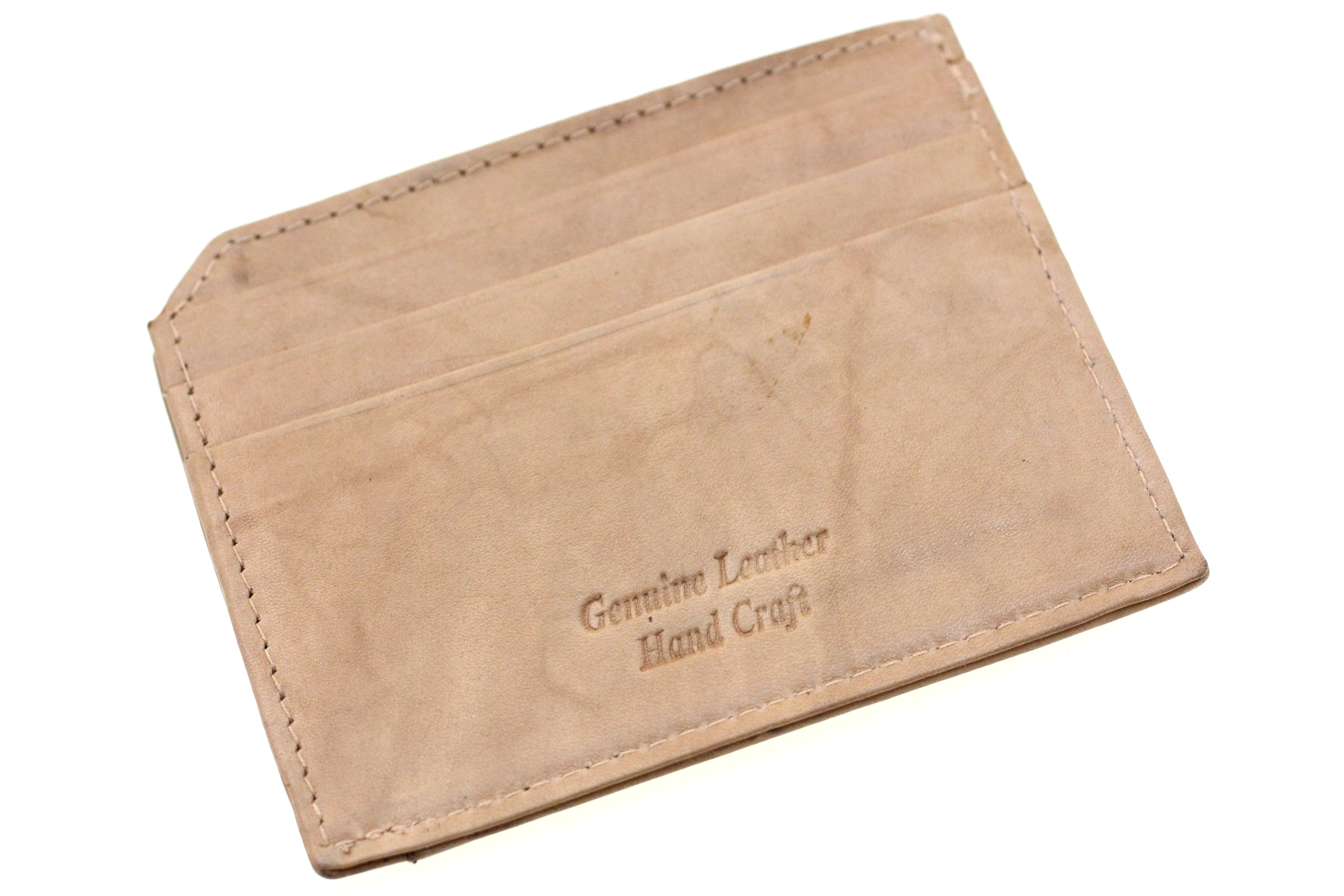 b77bd3f173d3f Genuine Leather Credit Card Holder ID Case Small Slim Compact Men ...