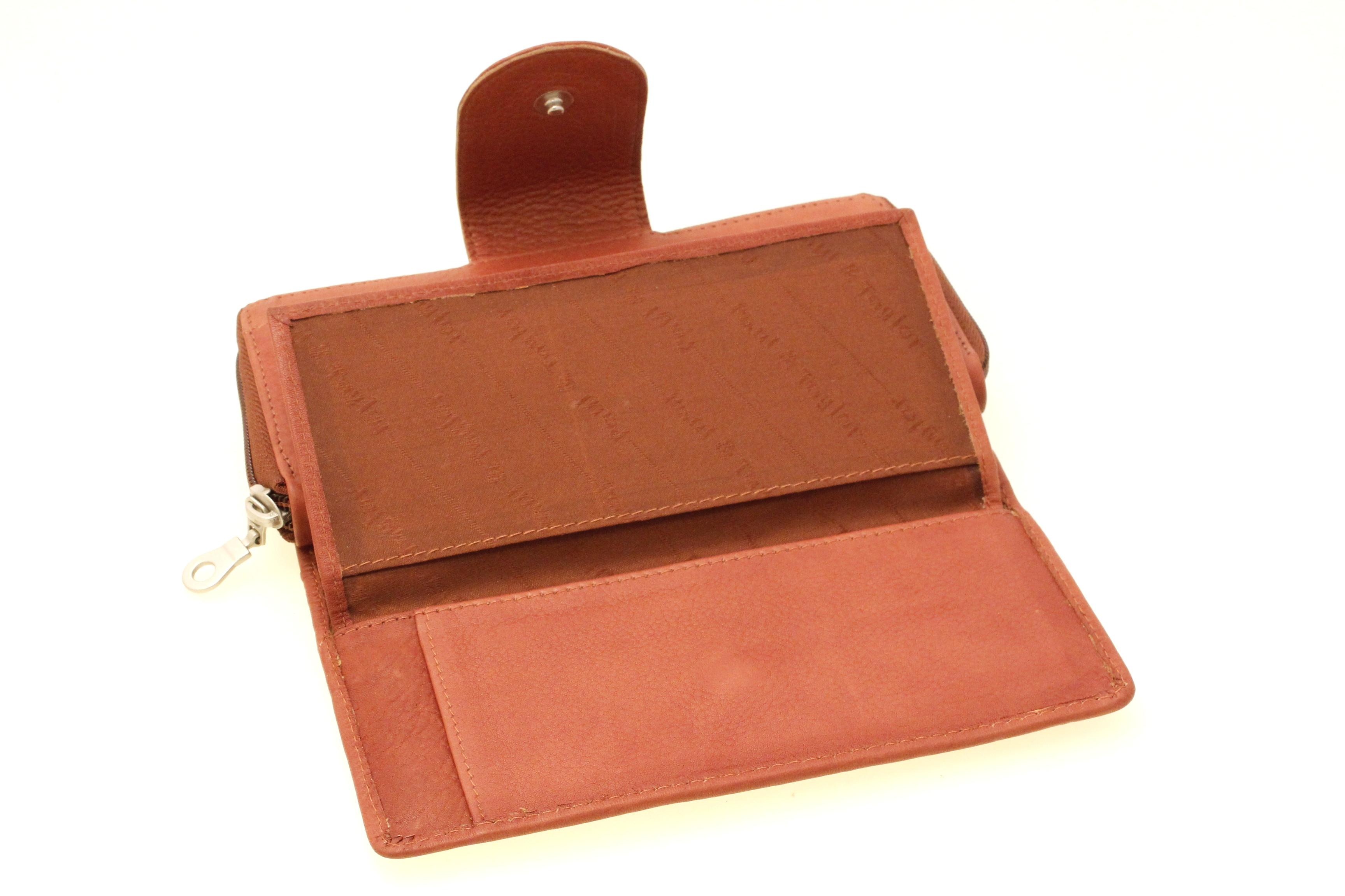 Womens Wallet Clutch Organizer Checkbook Genuine Leather ...