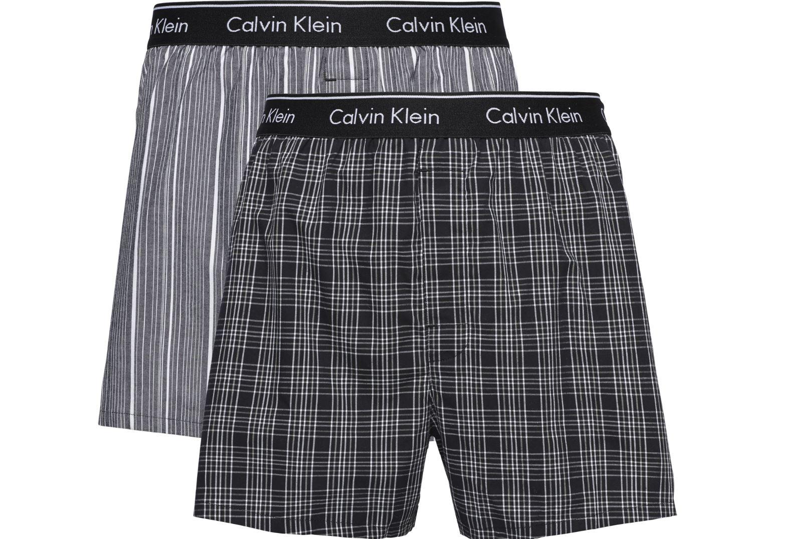 6717b898b2 Calvin Klein Mens 'Traditional' Woven Check Boxer Shorts (2-Pack ...