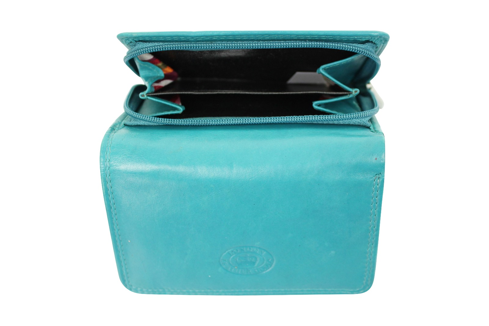 damen leder klein portmonee portemonnaie clutch tasche von london leather goods ebay. Black Bedroom Furniture Sets. Home Design Ideas