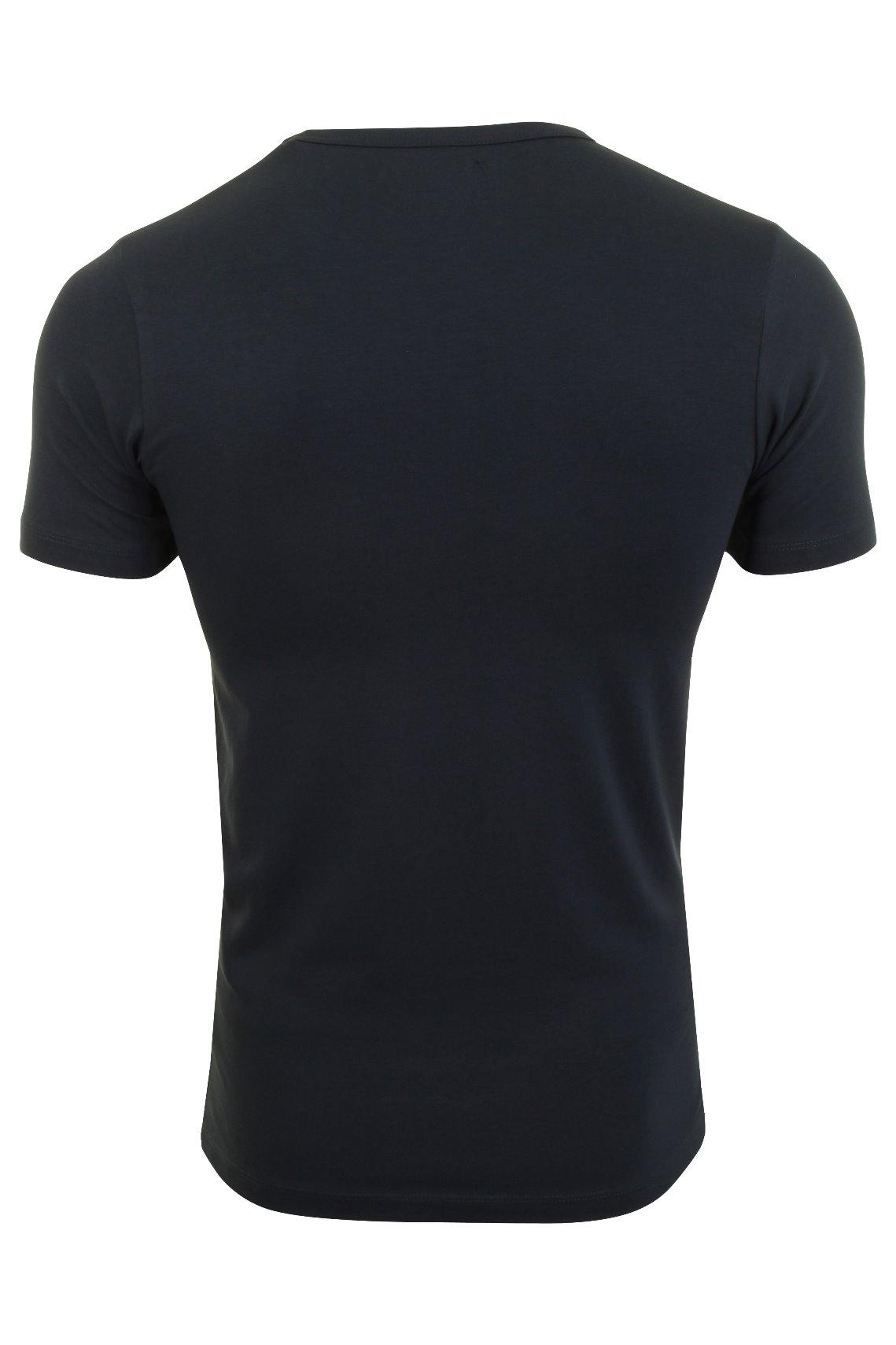 Jack-amp-Jones-De-Hombre-S-S-Cuello-Redondo-Camiseta-Slim-Fit miniatura 8
