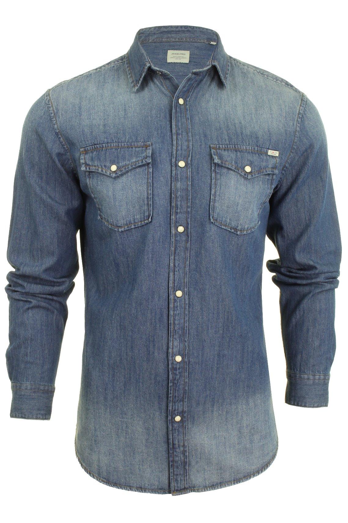 dafbe84200 Mens Jack   Jones  Sheridan  Denim Shirt - L S