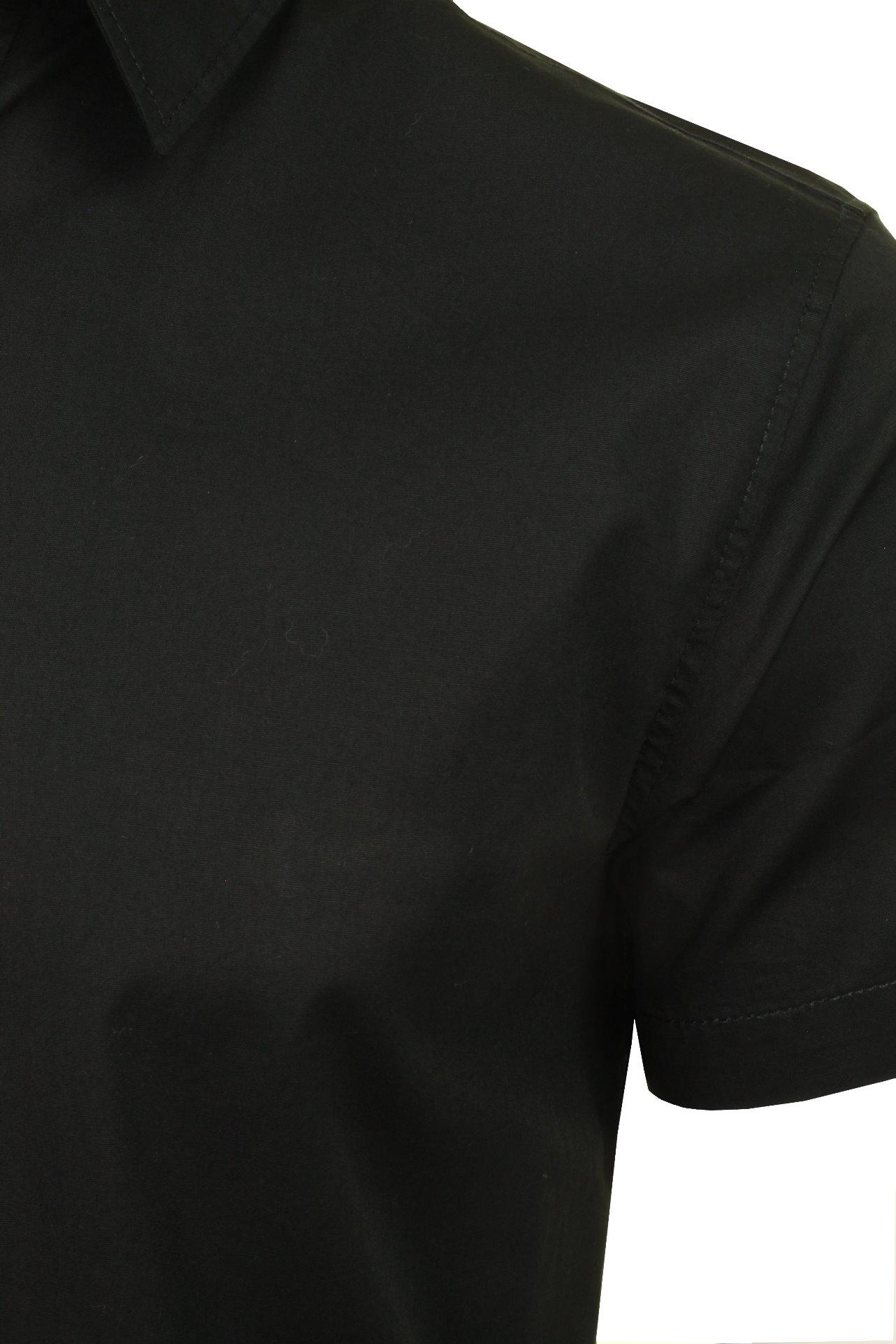 Jack-amp-Jones-Mens-039-Clint-039-Poplin-Shirt-Short-Sleeved thumbnail 4