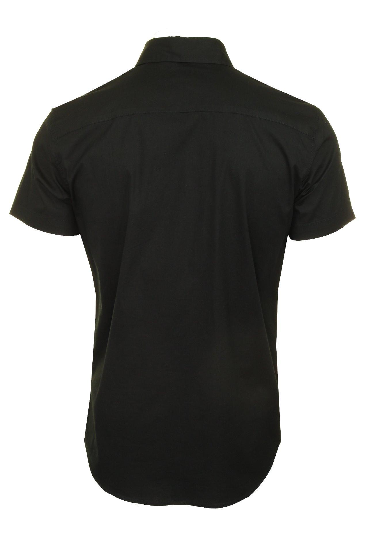Jack-amp-Jones-Mens-039-Clint-039-Poplin-Shirt-Short-Sleeved thumbnail 5