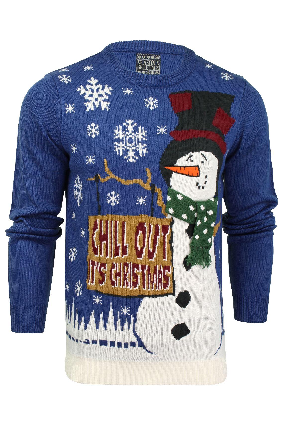 Details zu Herren WeihnachtsXmas Pullover von Seasons Greetings