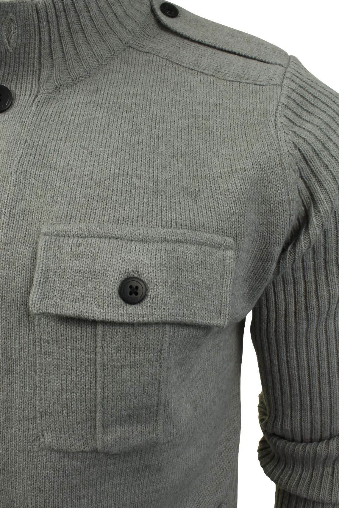 Mens Military Style Cardigan/ Jumper by Tokyo Laundry 'Brooke ...