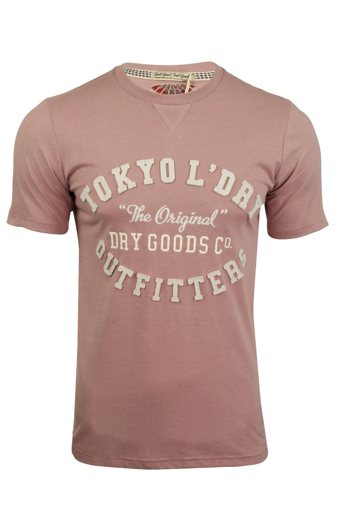 Tokyo-Laundry-Herren-T-Shirt-039-Ellsworth-039-Rundhals-Kurzarm