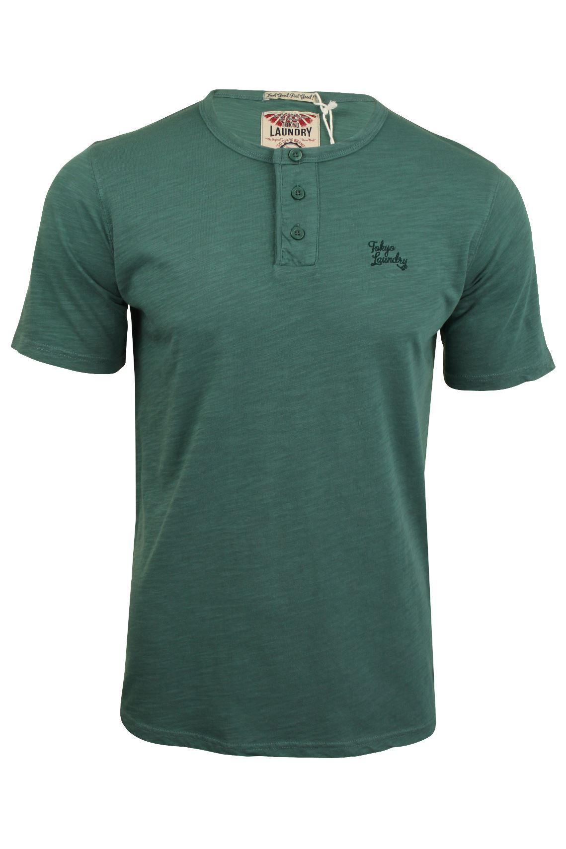 Tokyo-Laundry-Herren-T-Shirt-039-Barry-039-Grandad-Kurzarm