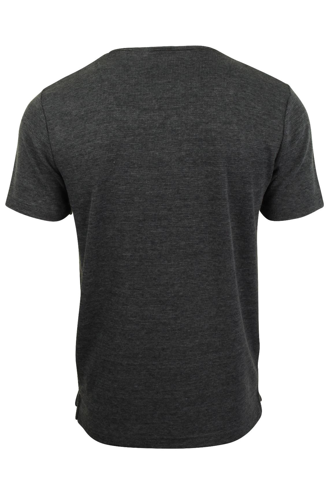 Mens-Tokyo-Laundry-Grandad-T-Shirt-Waffle-Burn-Out-Fabric thumbnail 5
