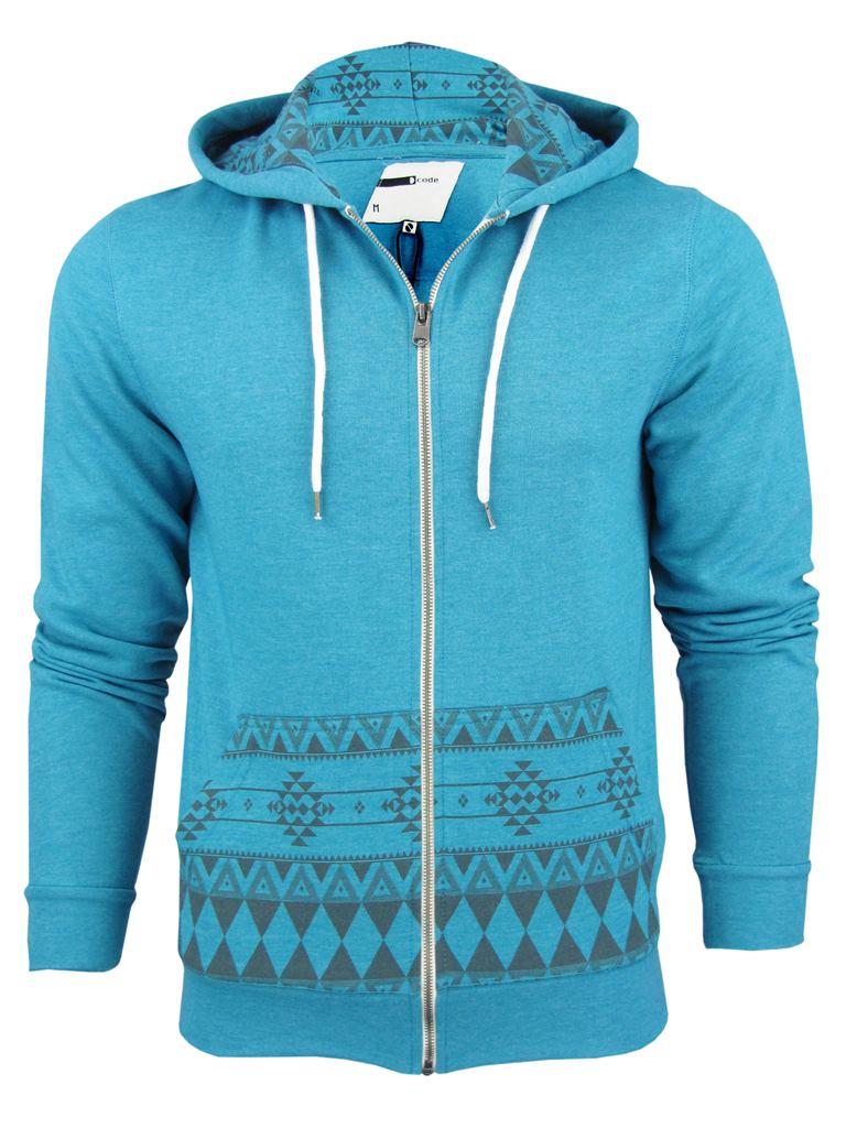 Mens D-Code 'Bob' Aztec Hoodie/ Hooded Sweater Jumper | eBay