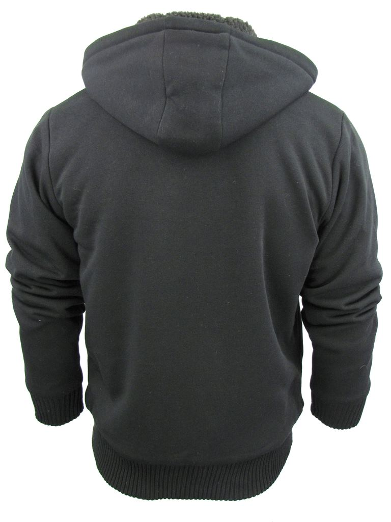 Mens-Dissident-Hoodie-Sweatshirt-Jumper-Jacket-039-Toulouse-039-Sherpa-Fleece-Lined thumbnail 12