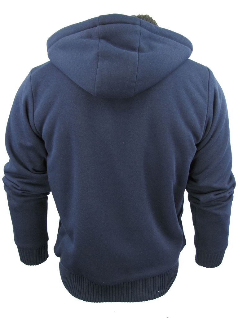 Mens-Dissident-Hoodie-Sweatshirt-Jumper-Jacket-039-Toulouse-039-Sherpa-Fleece-Lined thumbnail 18