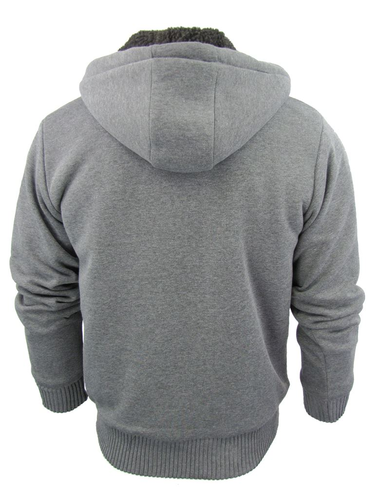 Mens-Dissident-Hoodie-Sweatshirt-Jumper-Jacket-039-Toulouse-039-Sherpa-Fleece-Lined thumbnail 21