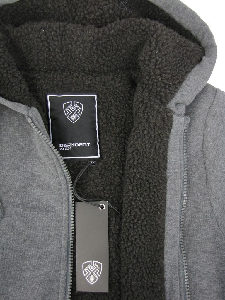 Mens-Dissident-Hoodie-Sweatshirt-Jumper-Jacket-039-Toulouse-039-Sherpa-Fleece-Lined thumbnail 22