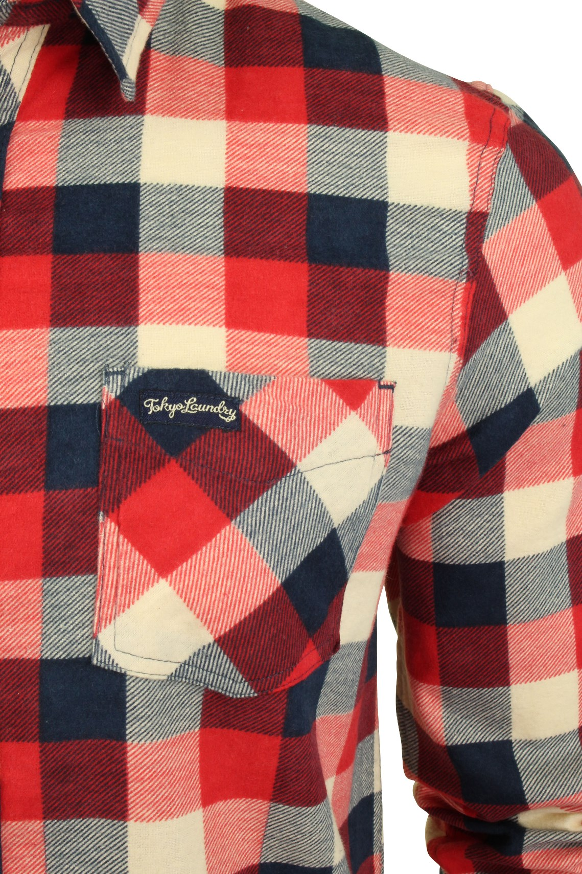 1b58d59f04 Mens Printed Flannel Checked Shirt Washed by Tokyo Laundry 'Veracruz ...