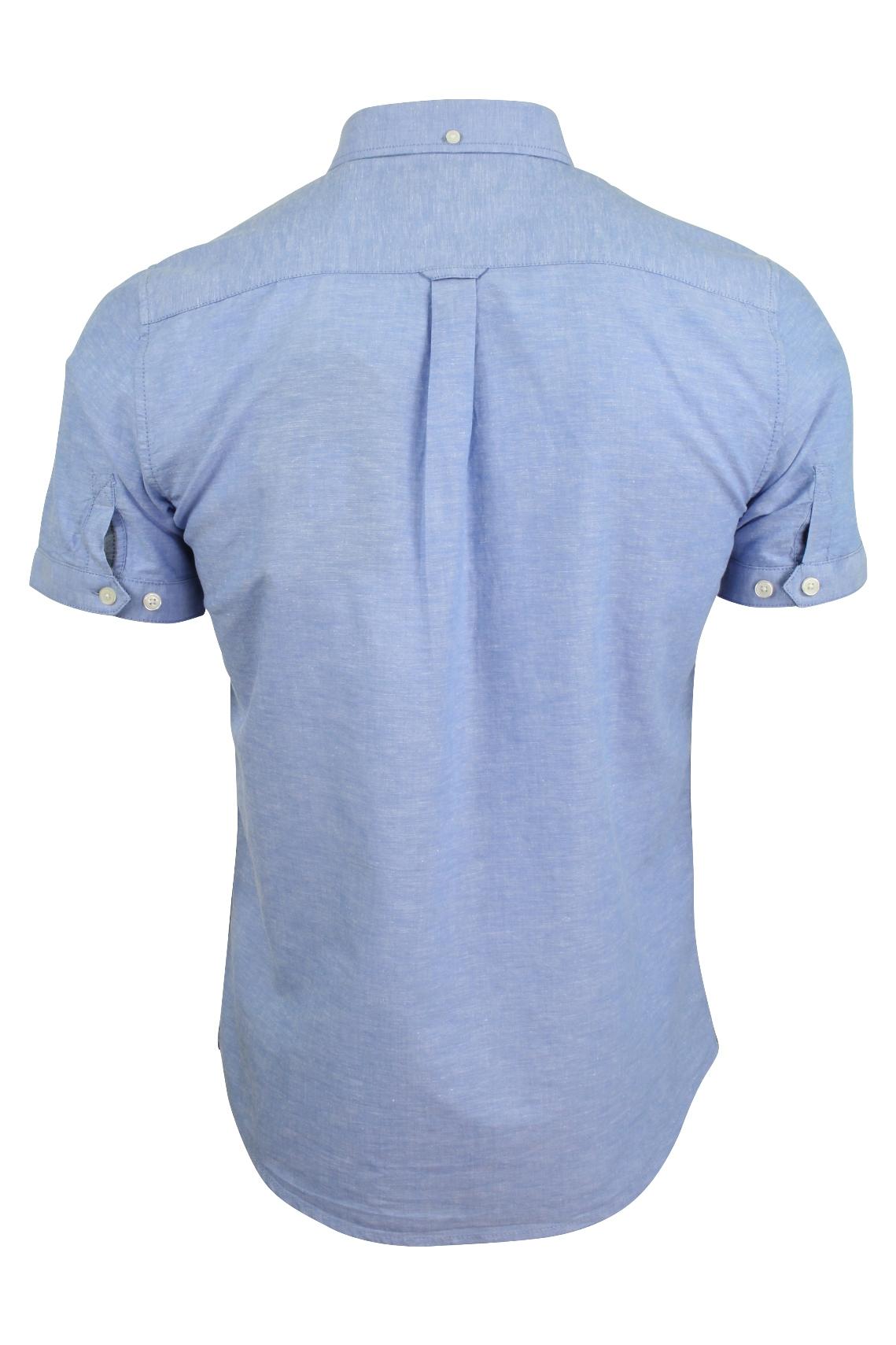 Tokyo-Laundry-Camicie-casual-039-Wells-039-Con-colletto-Manica-corta-Uomo