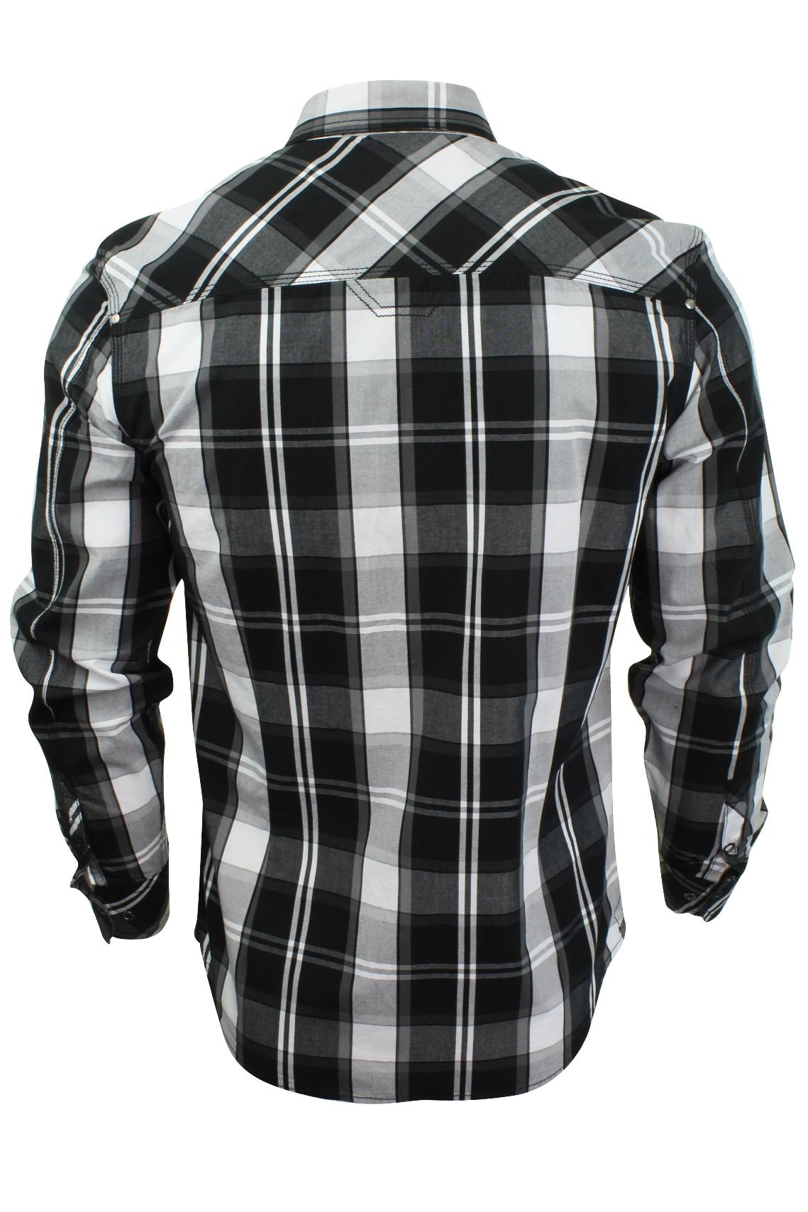 Mens-Check-Shirt-by-Dissident-039-Distrikt-039-Long-Sleeved thumbnail 5