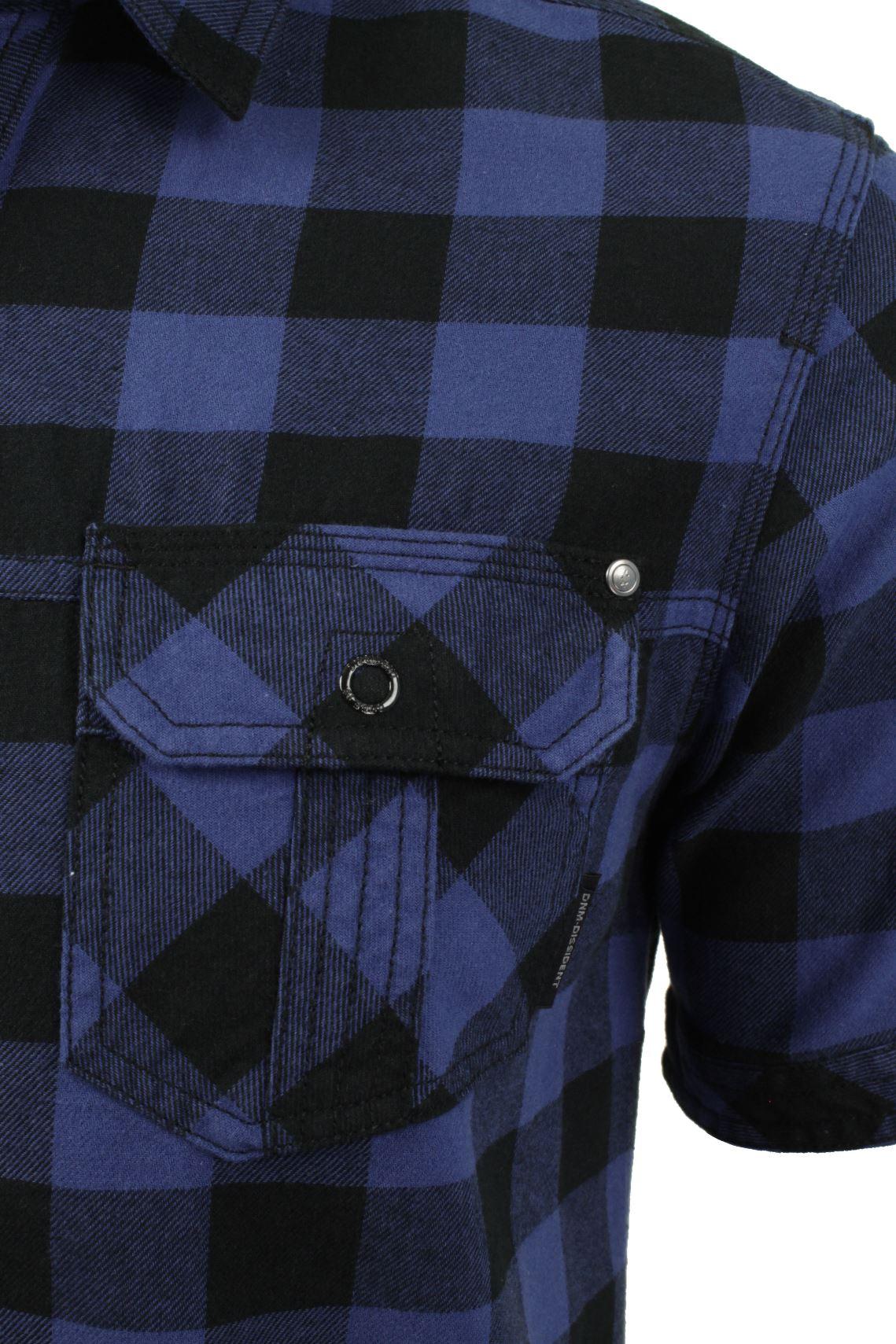 Mens-Buffalo-Check-Shirt-by-Dissident-039-Pedroza-039-Short-Sleeved thumbnail 7