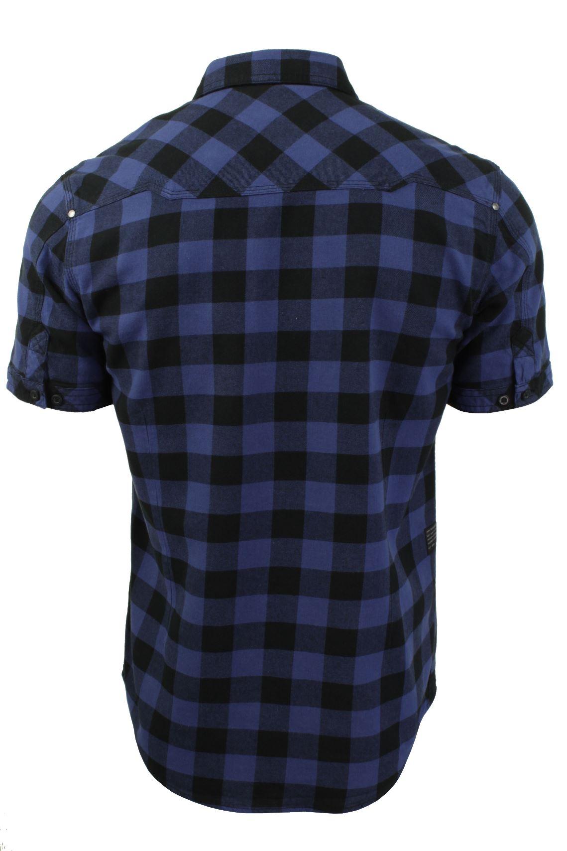 Mens-Buffalo-Check-Shirt-by-Dissident-039-Pedroza-039-Short-Sleeved thumbnail 8