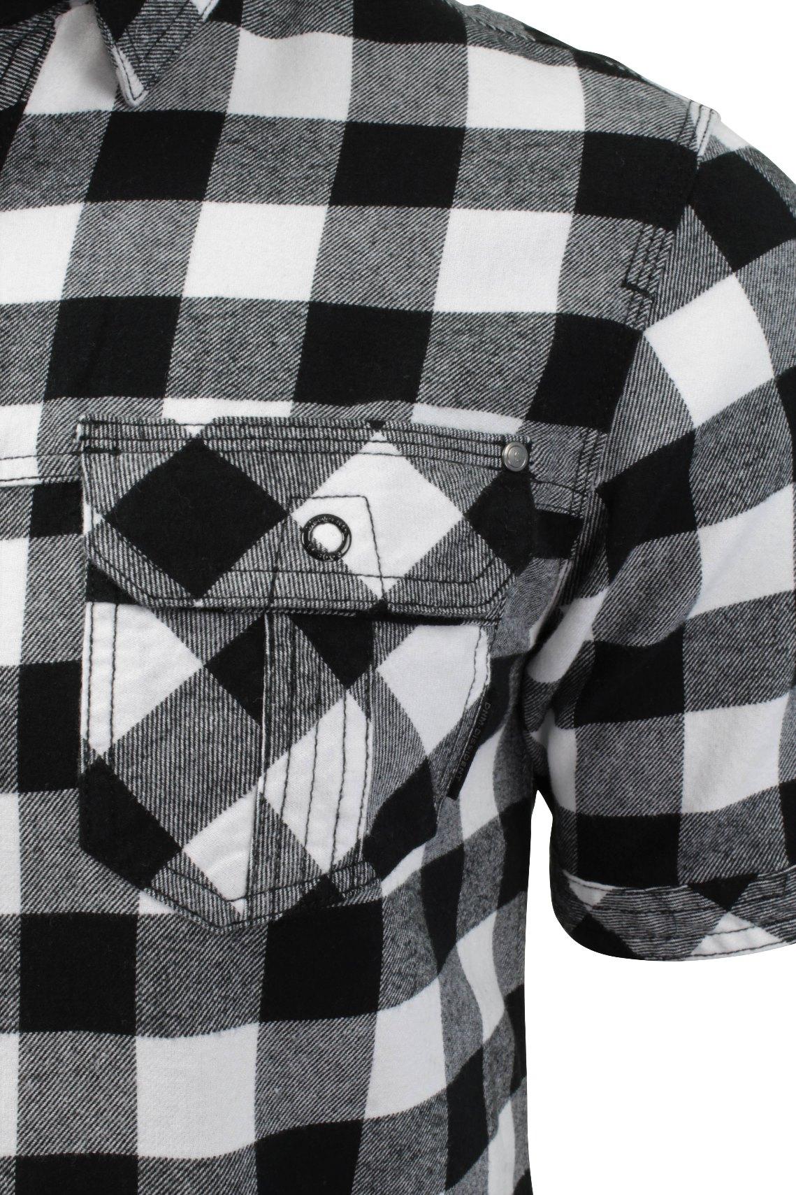Mens-Buffalo-Check-Shirt-by-Dissident-039-Pedroza-039-Short-Sleeved thumbnail 4