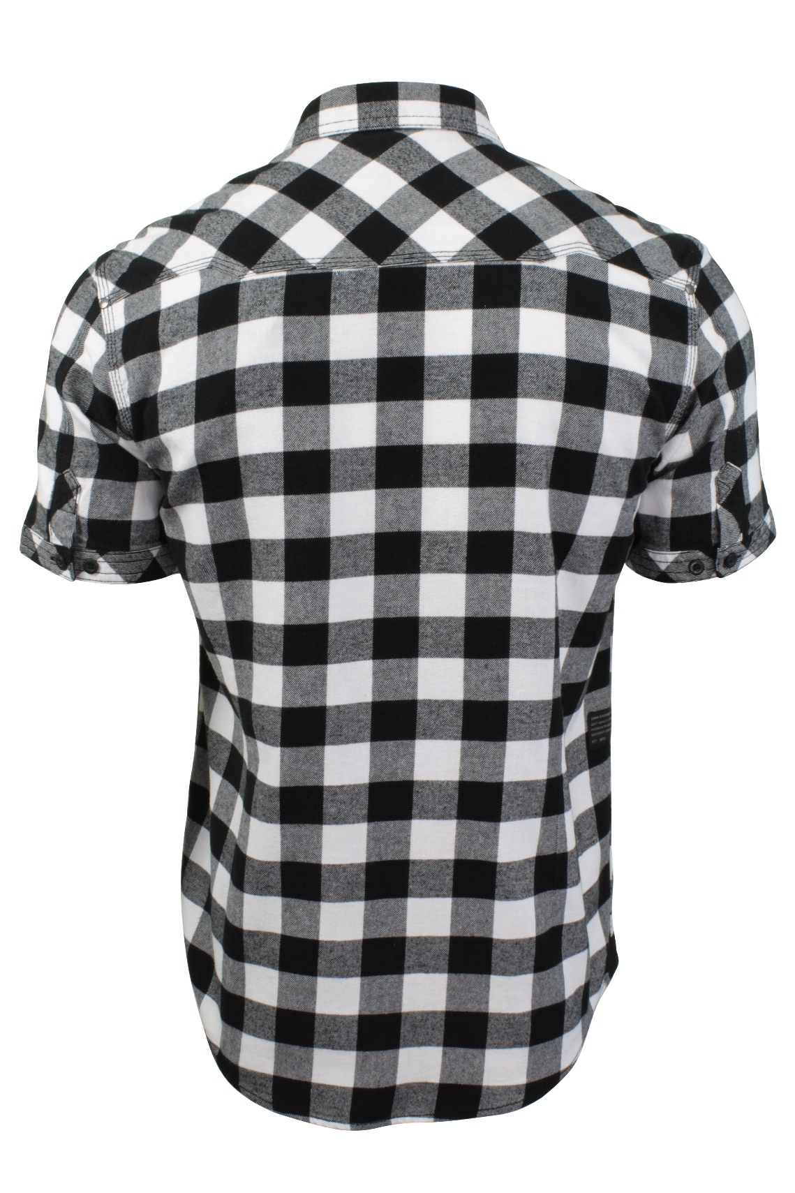 Mens-Buffalo-Check-Shirt-by-Dissident-039-Pedroza-039-Short-Sleeved thumbnail 5
