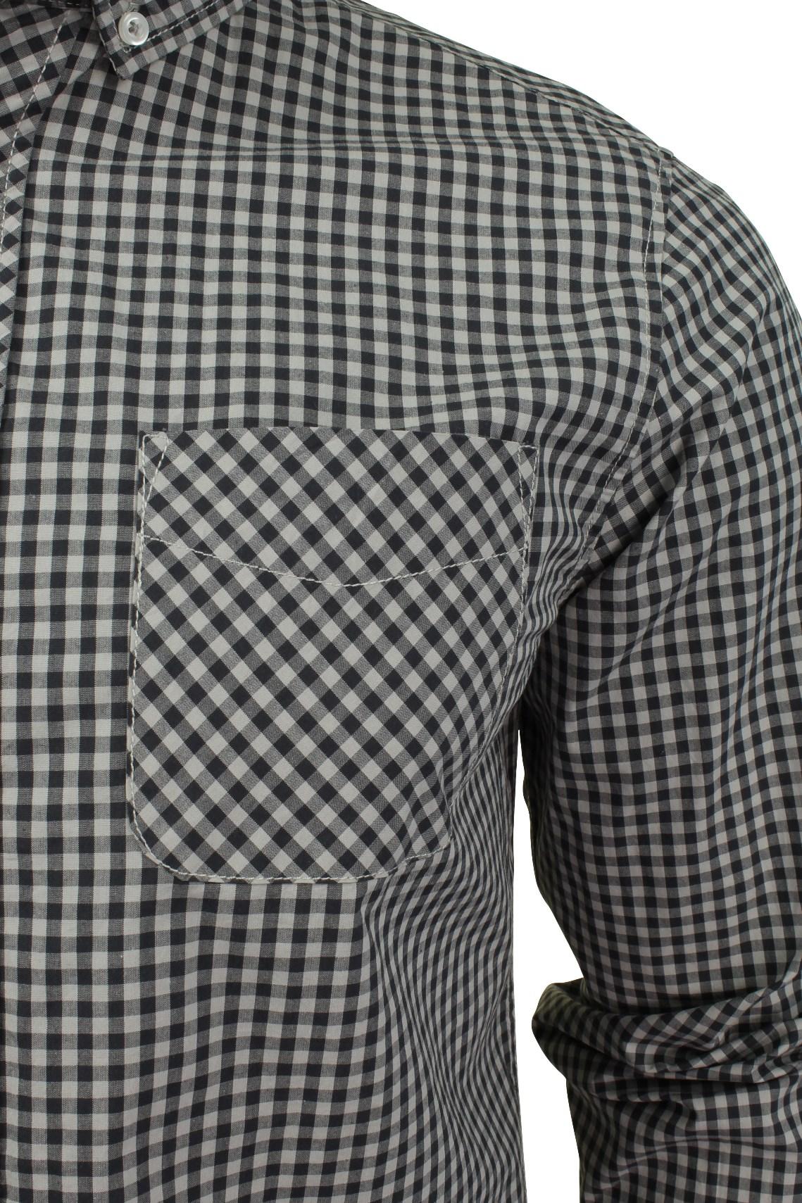 Mens-Gingham-Check-Shirt-by-Tokyo-Laundry-039-Newick-039-Long-Sleeved thumbnail 4
