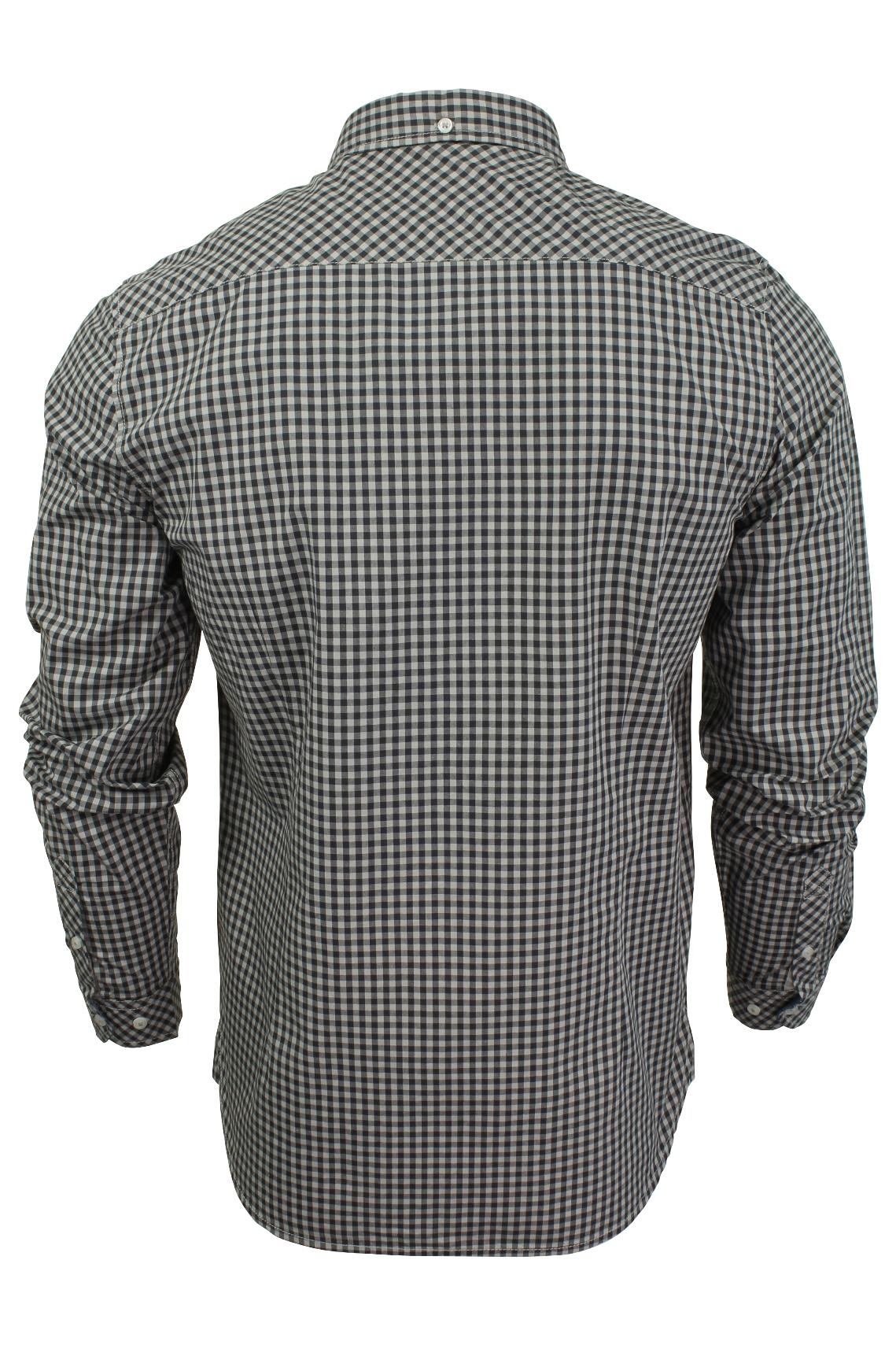 Mens-Gingham-Check-Shirt-by-Tokyo-Laundry-039-Newick-039-Long-Sleeved thumbnail 5