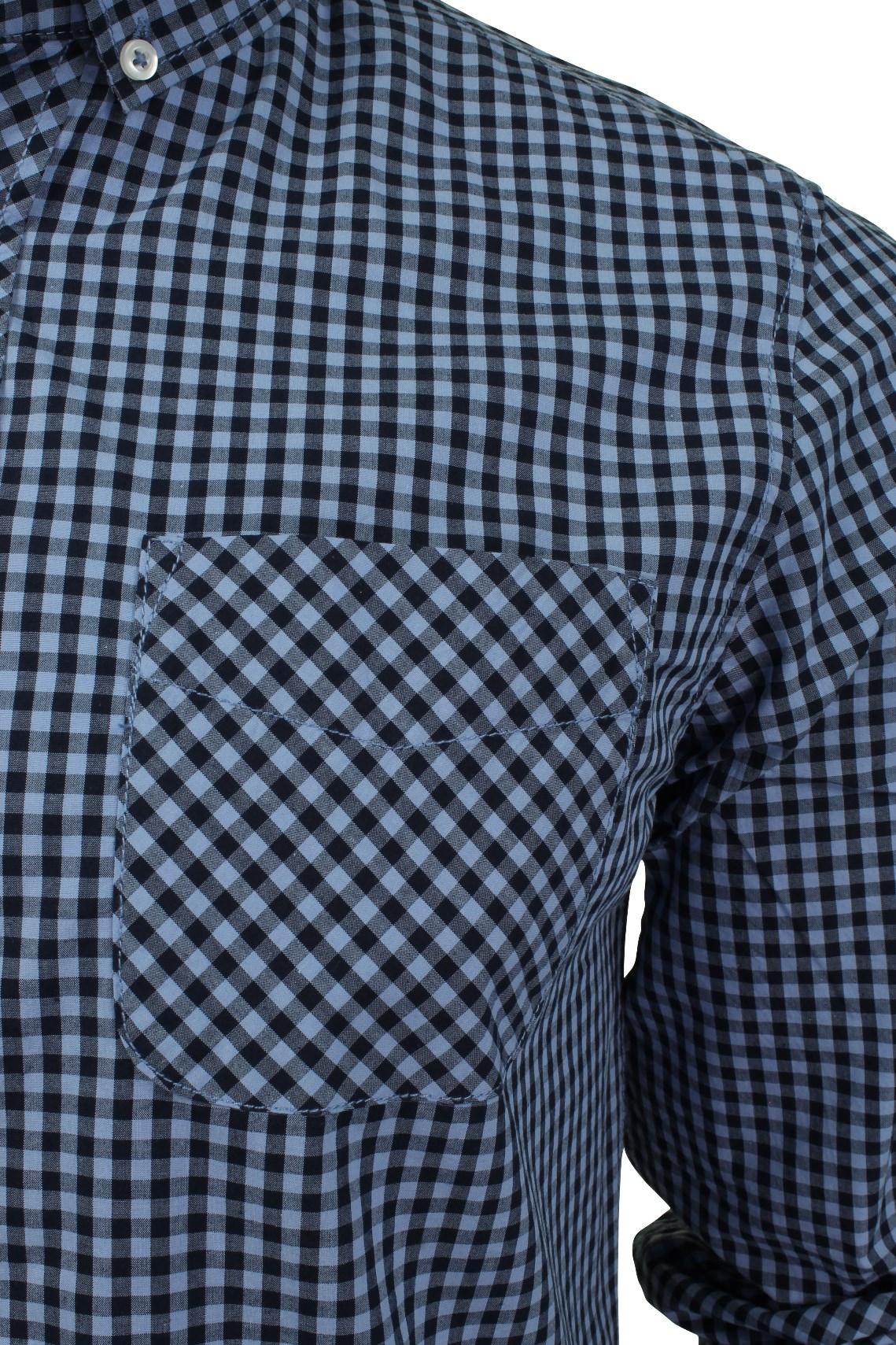 Mens-Gingham-Check-Shirt-by-Tokyo-Laundry-039-Newick-039-Long-Sleeved thumbnail 7