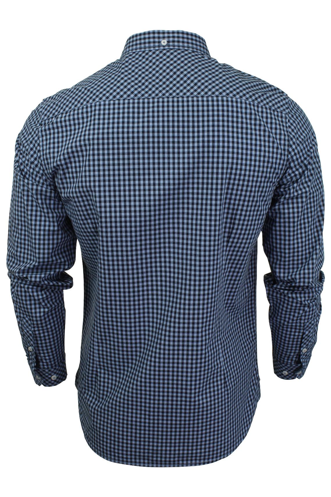 Mens-Gingham-Check-Shirt-by-Tokyo-Laundry-039-Newick-039-Long-Sleeved thumbnail 8