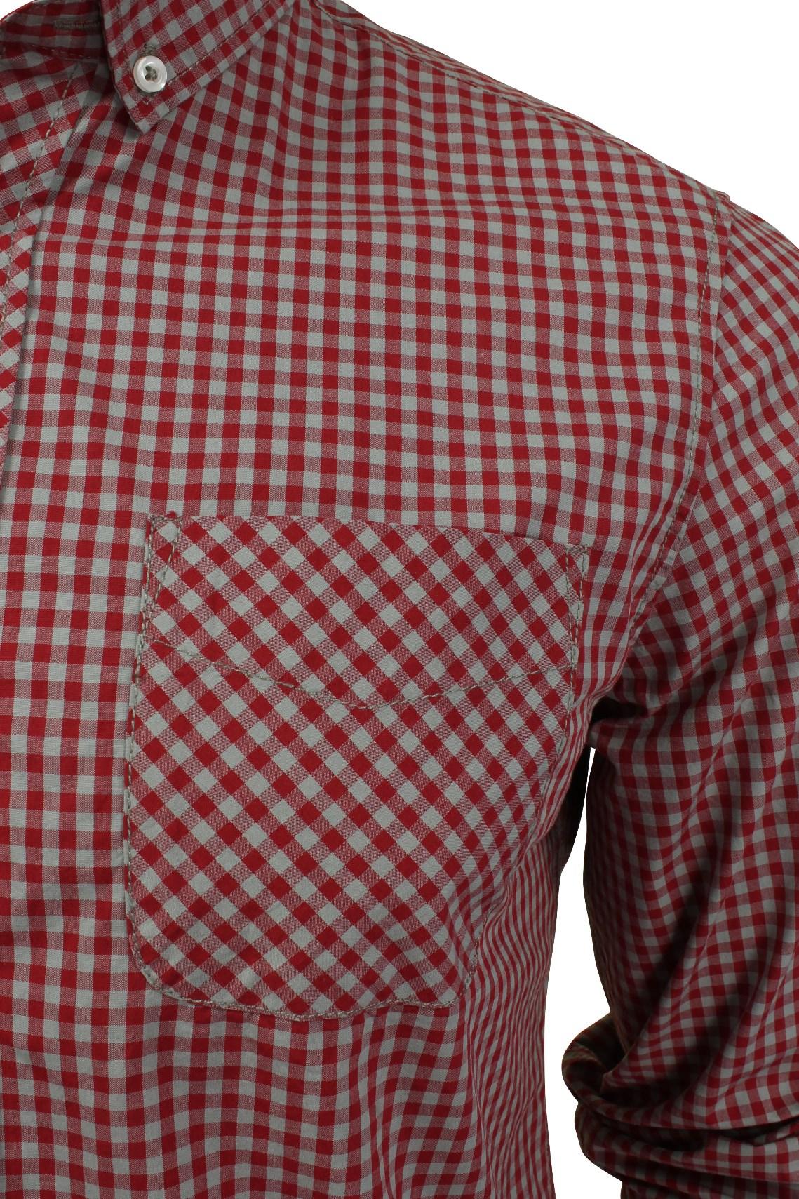 Mens-Gingham-Check-Shirt-by-Tokyo-Laundry-039-Newick-039-Long-Sleeved thumbnail 10
